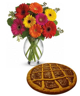 crostata-alla-nutella-con-bouquet-di-gerbere