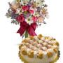torta-saint-honore-con-bouquet-di-fiori-misti